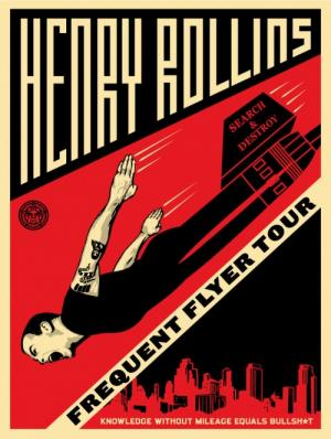 Shepard Fairey, Henry Rollins Frequent Flyer Tour