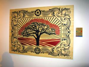 Shepard Fairey, Recycle Tree on Wood - Large