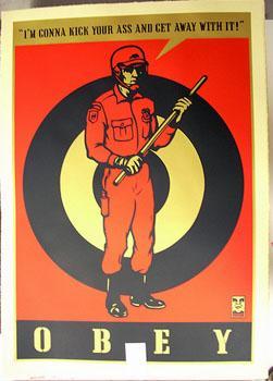 Shepard Fairey, Riot Cop Large Format