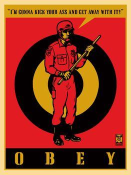 Shepard Fairey, Riot Cop (20th Anniversary Edition)