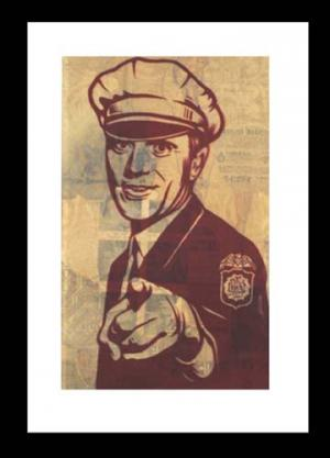 Shepard Fairey, Rise Above Cop Rubylith 