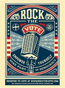 Shepard Fairey, Rock The Vote (DNC Edition)
