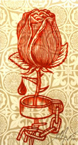 Shepard Fairey, Rose Shackle Rubylith