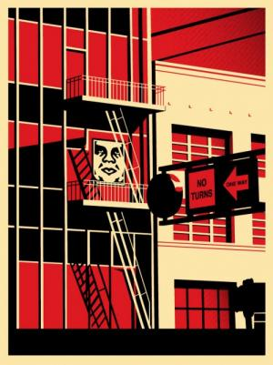 SF Fire Escape Print
