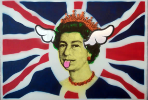Dog Save The Queen Canvas