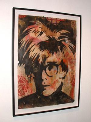 Shepard Fairey, Warhol Stencil Collage on Paper