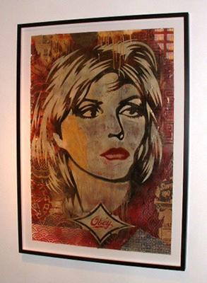 Shepard Fairey, Debbie Harry Stencil Collage on Paper