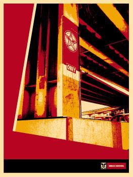 Shepard Fairey, San Francisco Banner Poster