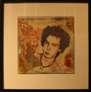 Shepard Fairey, Sid Jocoy Stencil Collage on Album Cover