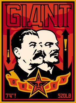 Shepard Fairey, Stalin Lenin Banner Offset