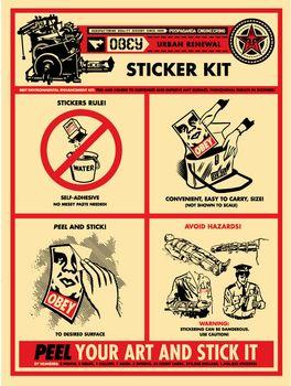 Shepard Fairey, Sticker Kit Print