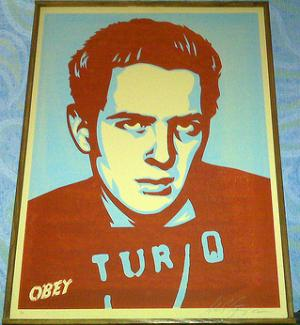 Shepard Fairey, Strummer Poster on Canvas
