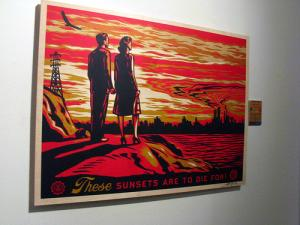 Shepard Fairey, Sunsets on Wood - Large
