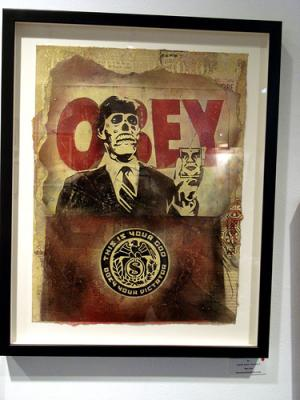 Shepard Fairey, They Live Retired Stencil on Paper