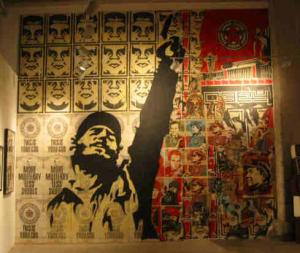 Shepard Fairey, Castro Collage Installation