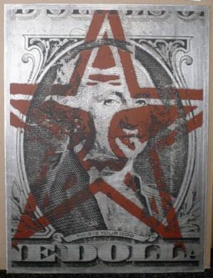 Shepard Fairey, This is Your God on Metal