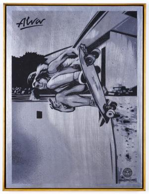 Shepard Fairey, Tony Alva on Metal