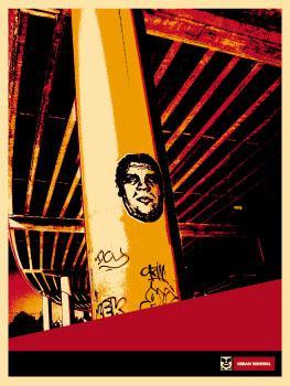 Shepard Fairey, Tracks Poster