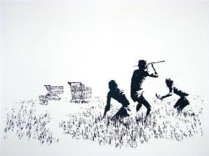 Banksy, Trolleys