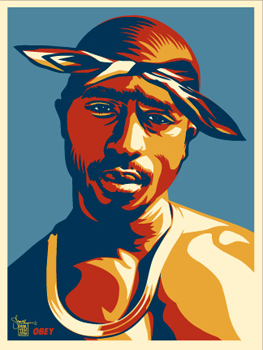Shepard Fairey, Tupac Blue and Red