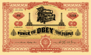 Shepard Fairey, Two Sides Of Capitalism: Good