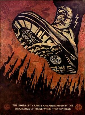 Shepard Fairey, Tyrant Boot Canvas