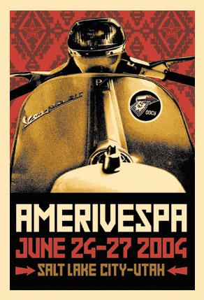 Shepard Fairey, Vespa Print 