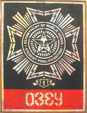 Shepard Fairey, Public Works Medal HPM on Wood