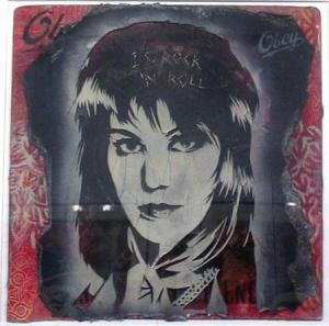Shepard Fairey, Joan Jett Retired Stencil on Album Cover