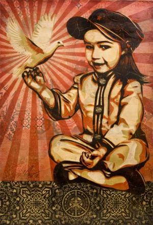 Shepard Fairey, Vivi La Revolution Canvas