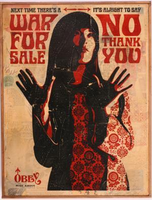 Shepard Fairey, War for Sale HPM on Wood