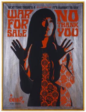Shepard Fairey, War for Sale on Metal