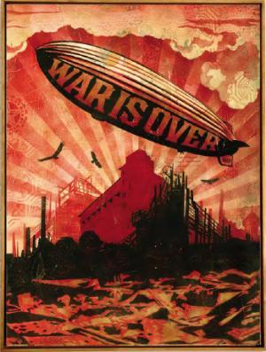 Shepard Fairey, War is Over Canvas