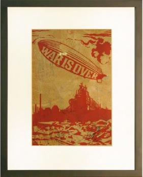 Shepard Fairey, War is Over Rubylith