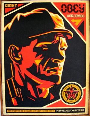 Shepard Fairey, Worker on Wood 