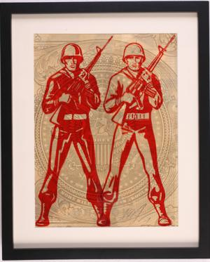 Shepard Fairey, World Police Rubylith