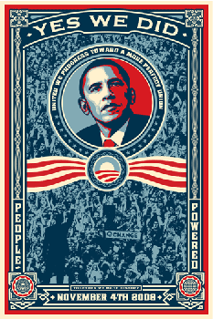 Shepard Fairey, Yes We Did - Victory! (Paster Edition)