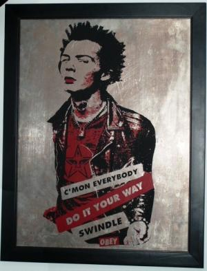 Shepard Fairey, Your Way 3 on Metal