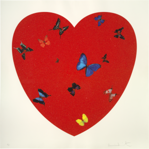 Damien Hirst, All You Need Is Love. Love. Love. Diamond Dust.