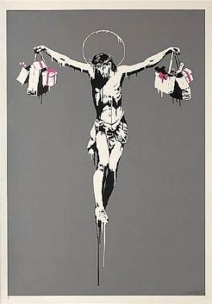 Christ with shopping bags