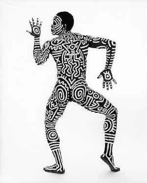 Bill T. Jones Body Painting with Keith Haring 5