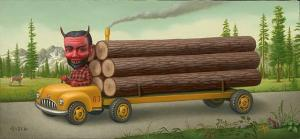 Untitled (Logging truck)