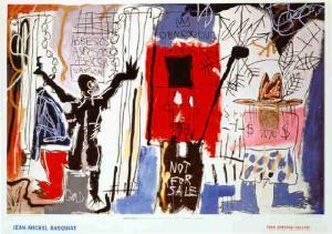 """Jean-Michel Basquiat """"Obnoxious Liberals"""""""
