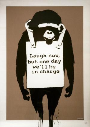 Banksy, Laugh Now Unsigned