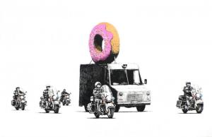 Banksy, Donuts Strawberry