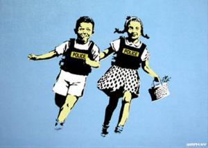 Banksy, Jack and Jill (Police Kids) Unsigned