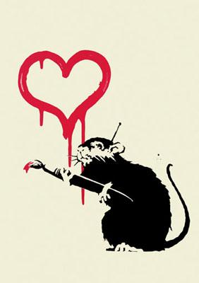 Banksy, Love Rat Unsigned
