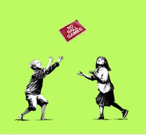 Banksy, No Ball Games Green
