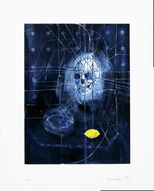 Damien Hirst, Skull with Ashtray and Lemon - Print