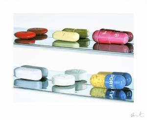 Damien Hirst, Six Pills (Large)
